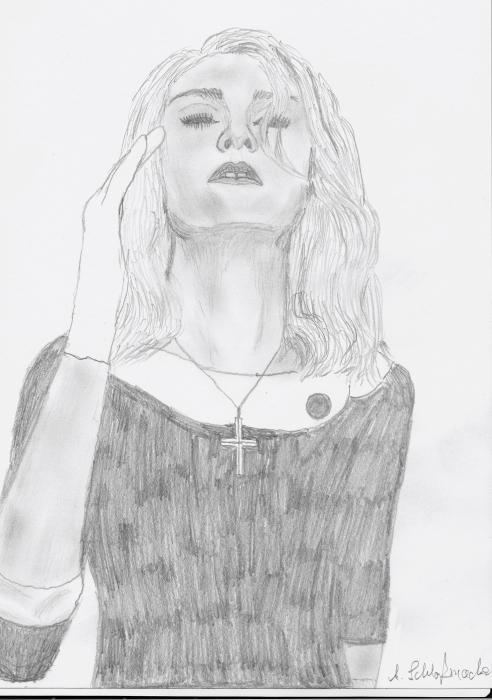 Madonna by sunflower